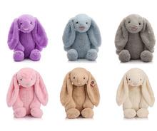 25cm Bunny Stuffed Rabbit Cut Plush Soft Toys Promotional Bunny Doll Rabbit Plush Toy With Long Ears Appease Rabbit(China (Mainland))