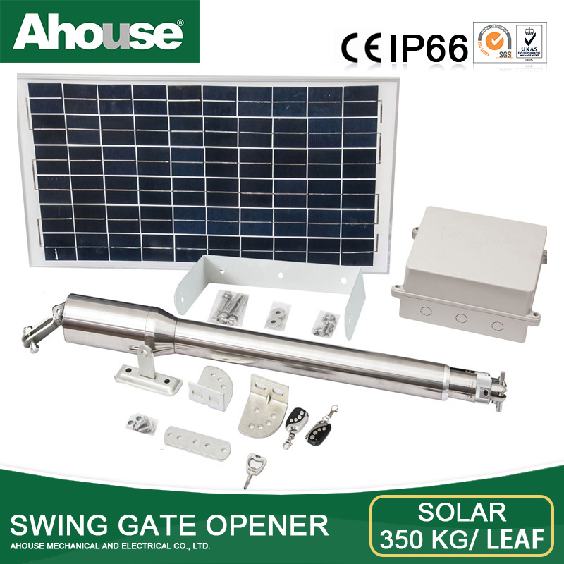 Ahouse swing gate opener solar single