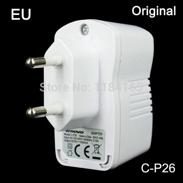 Lenovo Original C-P26 1000mA, EU USB Charger for Lenovo K900 / K910 / P780 /A85 /A820/ A516 A706/ S960 / S850/ S820/S830 / S720(China (Mainland))