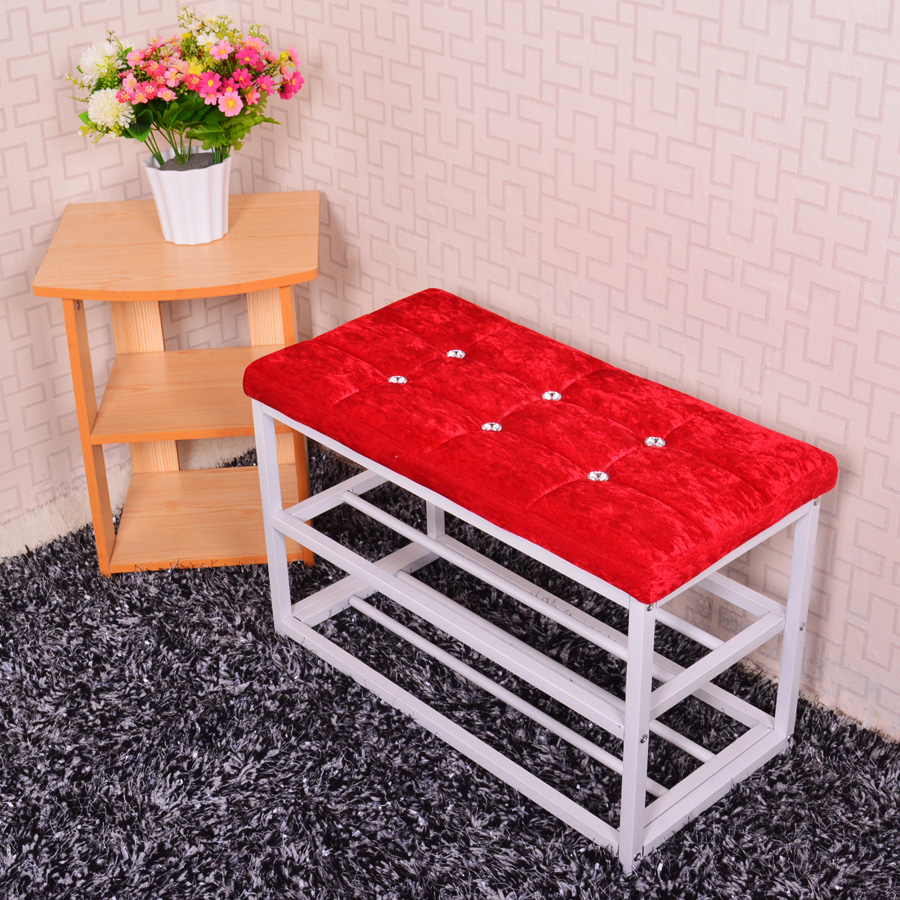 Simple shoe rack multi-layer steel reinforcement pastoral dormitory storage stool changing his shoes Continental Specials<br><br>Aliexpress