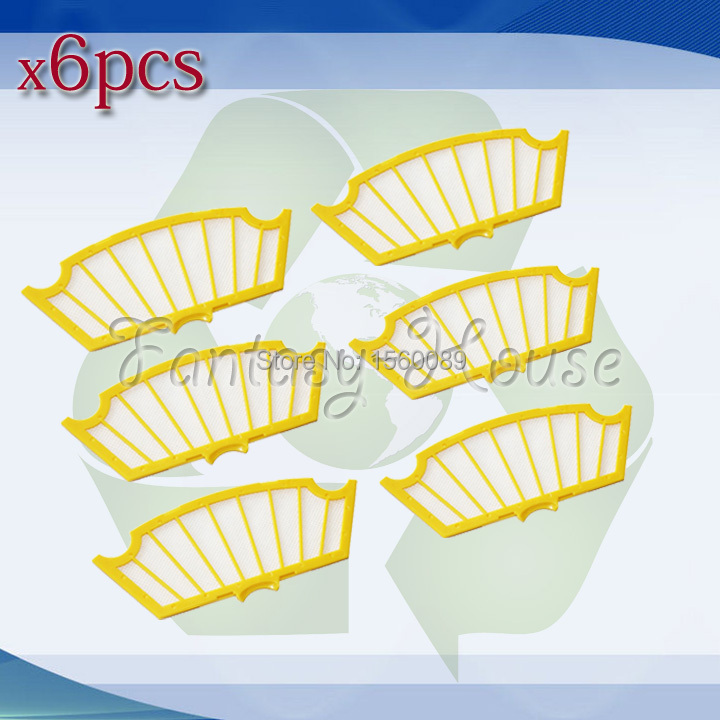 6 Piece Replacement Filter for iRobot Roomba 500 Series Vacuum Cleaner(China (Mainland))