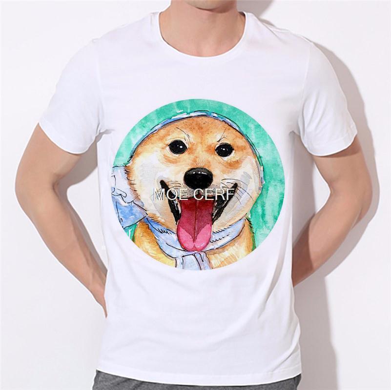 Dreams of becoming a lion dog pattern printing men's T-shirt 3D T Shirts Men Mens Tees Dog Pug Men t shirt Short Sleeves B-138#  HTB1WoSmKVXXXXaDXFXXq6xXFXXXJ