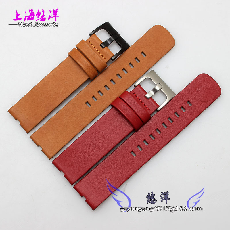 New Arrive 22mm Leather Watch Strap Deployant Bracelet Watch Band Black Brown Red Watchband For moto 360 watch<br><br>Aliexpress