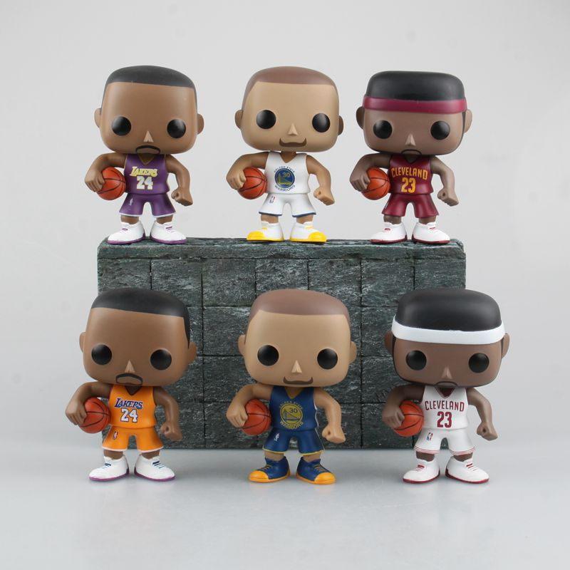 Funko Pop Lebron James Kobe Bryant 10cm Toys #1597 Action Figure Brinquedo Toy Kids Christmas Gift Free Shipping(China (Mainland))