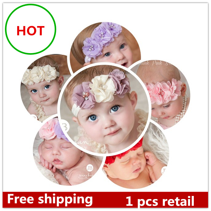 1PCS Retail Infant flower headband Babies hairband Toddler Baby girls headbands hair accessories 24 design high quality 42(China (Mainland))