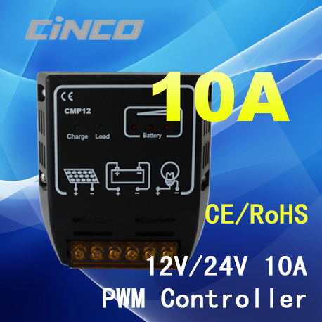 CMP10A PWM 10A 12V/24V solar charge controller,solar regulator for solar panel system use.(China (Mainland))