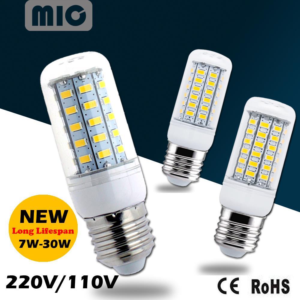 Bombillas LED Bulb E27 SMD 5730 lamparas LED Light 24 36 48 56 69 96 LEDs Lampada LED Lamp E27 220V 110V Ampoule Candle Luz<br><br>Aliexpress