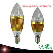 Buy 10X LED candle light E14 9W 12W 15W E14 Dimmable 110V 220V Led bulb lamp cool white / warm white CE ROHS for $22.00 in AliExpress store
