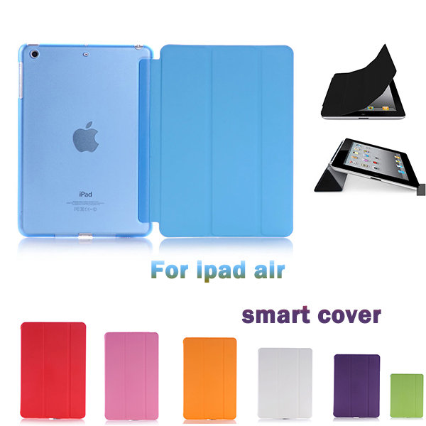 New Slim Magnetic Folding Folio Front Smart Cover Skin Hard PC Back Shell Case For ipad 2 3 4 6 For ipad air 5 for air 2 retina(China (Mainland))