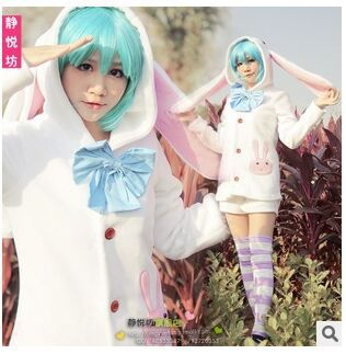 new cute Hatsune Miku Rabbit cosplay costume holiday party Lolita clothing coat ( with Rabbit ears ) + Shorts for girls womenОдежда и ак�е��уары<br><br><br>Aliexpress