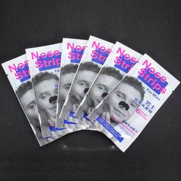 GardenIsland 6Pcs Deep Cleansing Nose Strips Blackhead Remove For Man(China (Mainland))
