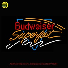 New Neon Sign Budweiser Superfest Beer Real Glass Tube Neon Signs Light Handcrafted Recreation Room Bar Wall Iconic Sign 37x20(China (Mainland))