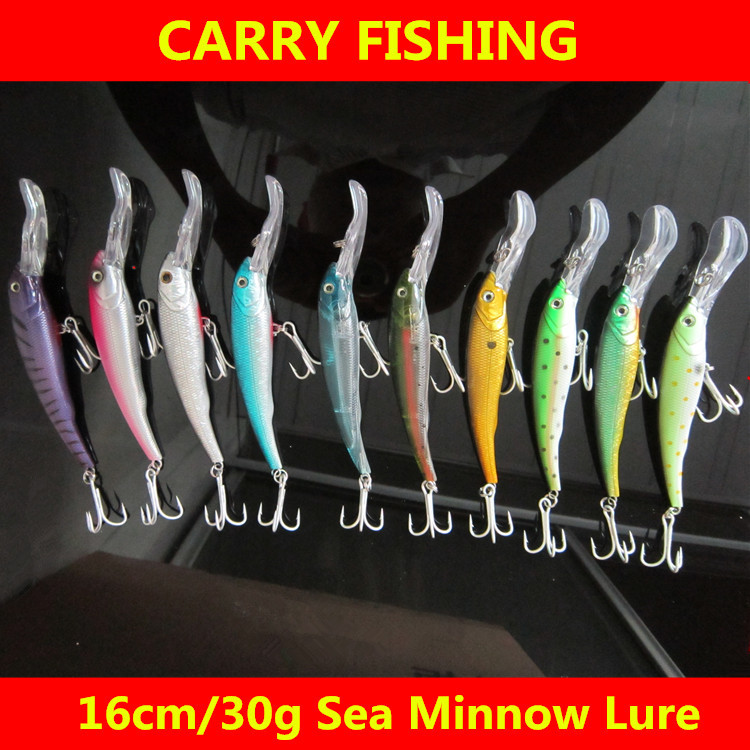 New 17cm/30g fishing minnow lure fit for rapala hard isca artificial bait Saltwater deep sea boat fishing lures tackle C227(China (Mainland))