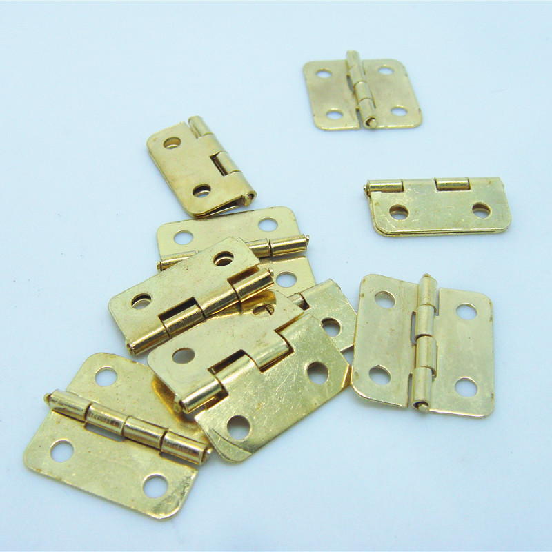 50pcs 18*16mm Wooden box accessories Small hinge metal hinge 6 minutes flat fillet accessories for furniture(China (Mainland))
