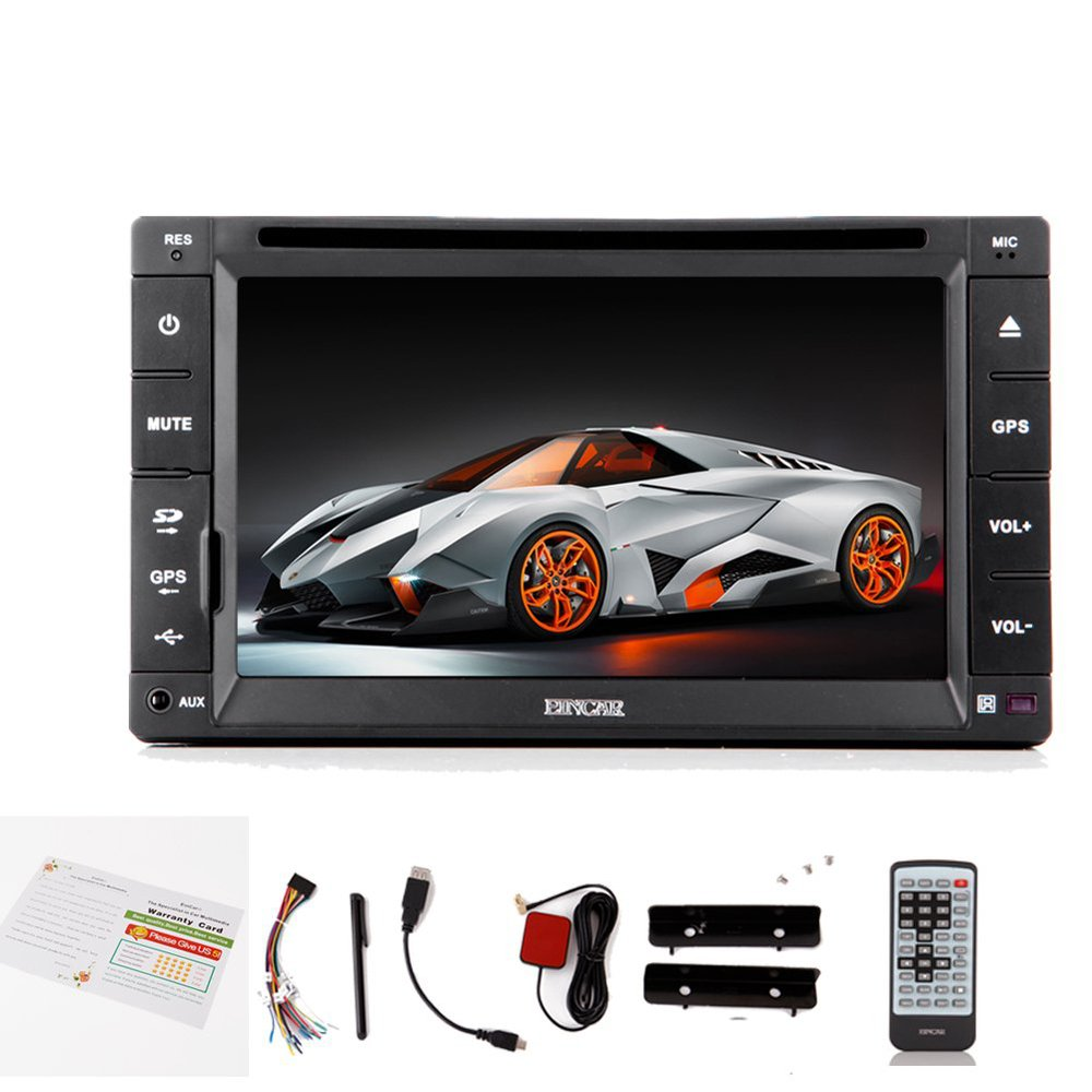 New 6.2-inch 2-DIN Touch Screen in Dash Car DVD Player with cd/mp3//usb/sd/amfm/rds Radio/bluetooth/stereo/audio GPS Navigation(China (Mainland))