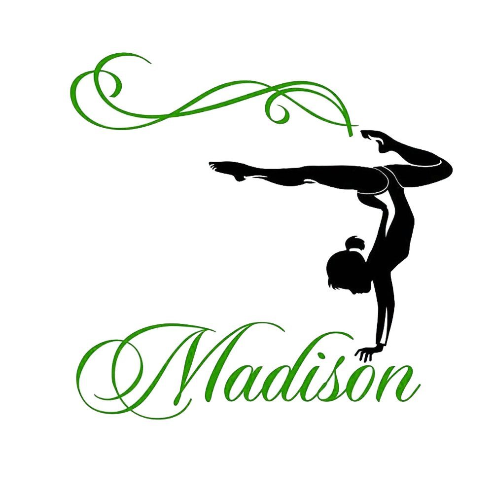 2016 new fashion Personalized name custom gymnastics Dance Dancing wall sticker for kids rooms WS069(China (Mainland))