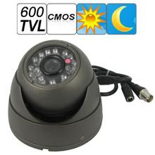 600 TVL Grau Dome Design 24 stücke IR LED 1/3 CMOS Wasserdichte Cctv-kamera-unterstützung Nachtsicht(China (Mainland))
