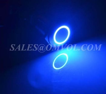 12V blue LED 16mm metal switch momentary metal pushbutton switch 1NO1NC