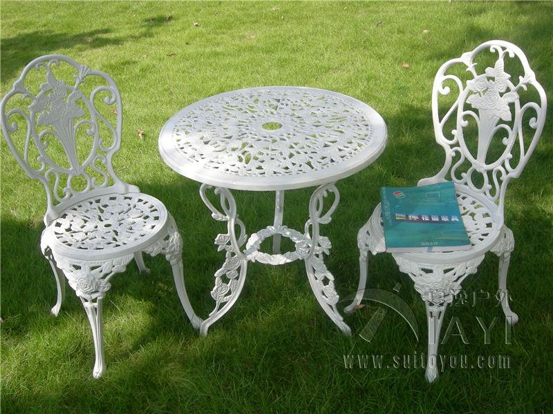 Gartenmobel Alu Anthrazit : Aliexpresscom  Buy 3 piece cast aluminum table and chair patio