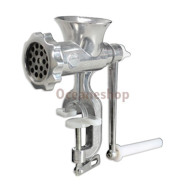 Гаджет  Cast Iron Manual Meat Grinder Mincer Table Hand Crank Tool for Kitchen T#3T None Бытовая техника