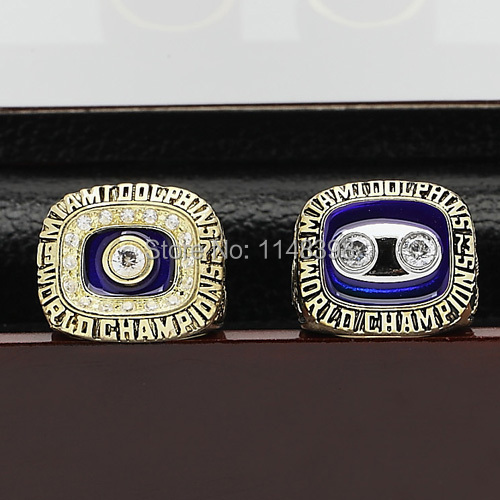 1972 1972 Miami Dolphins super bowl replic championship copper rings Size #10-#13 men ring with boxes on sale(China (Mainland))