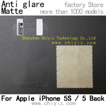matte anti glare screen protector protective film for apple iphone 5s / iphone 5 back only