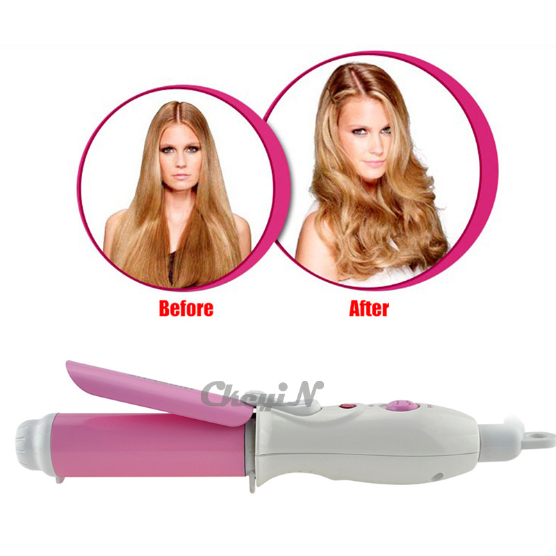 Mini Portable Electric Hair Curler Personal Styler Hair Curlers Hair Roller Tongs Professional Curling Iron Curling Wand Styler(China (Mainland))
