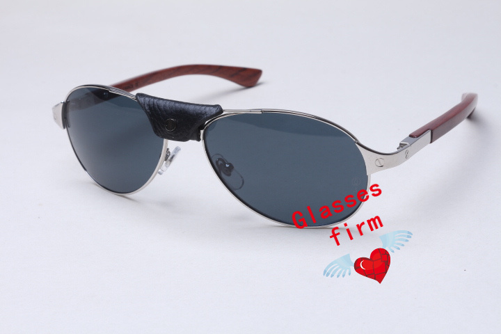 Wholesale High-end oval metal frame wooden 4480317 sunglasses with leather buckle for Couple Size:57-18-130mm(China (Mainland))
