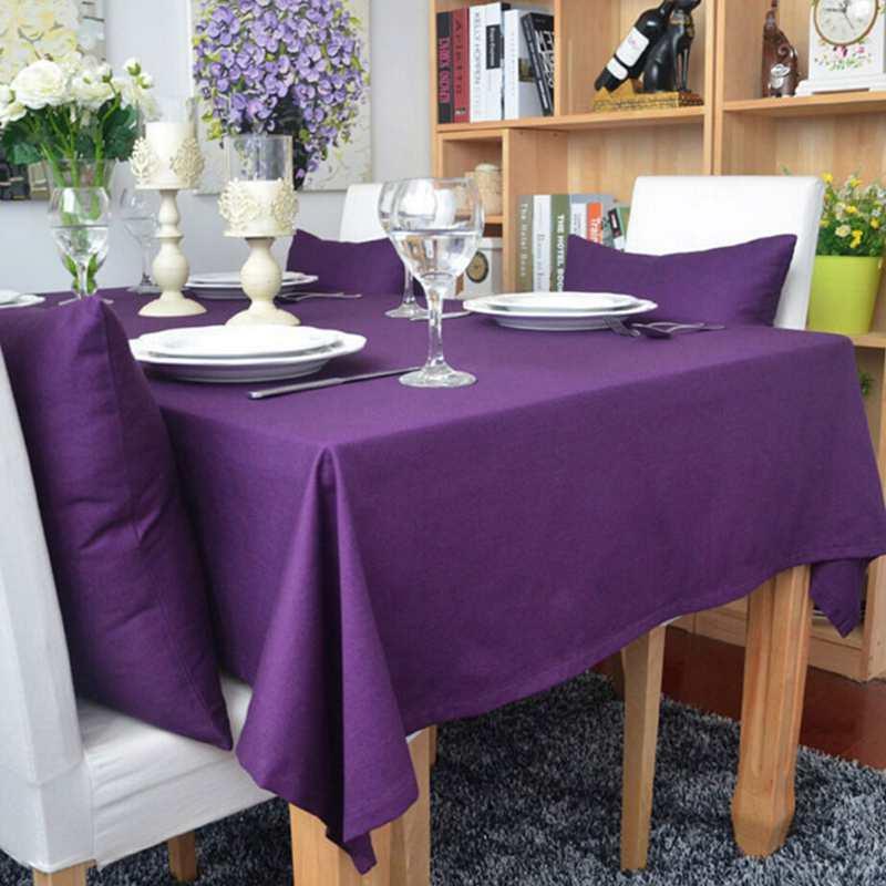 HCSTAR Cotton Purple Table Cloth Nappe Desk Accessories Elegant Table Cover table cloth rectangular de mesa manteles(China (Mainland))