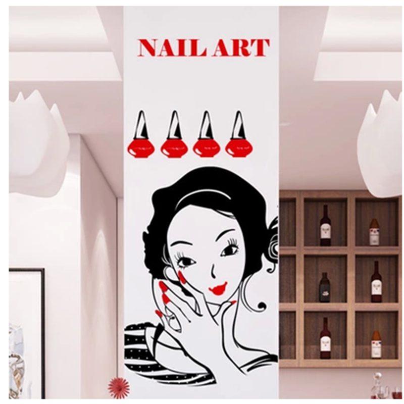 Nail salon sticker spa decal posters vinyl wall art decals - Stickers deco salon ...