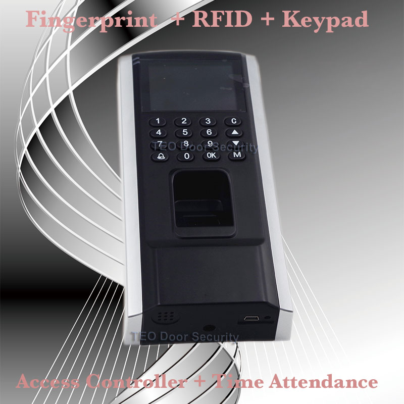 Cheaper Fingerprint Access Control Device TCP IP Employee Time Attendance with Access Control F8 Keypad RFID Biometric Access(China (Mainland))
