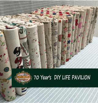 All-match Rural floral Cartoon Printing Linen Hemp fabric meter,DIY handwork home textile Bag Sewing Quilting Patchwork Fabric 4(China (Mainland))