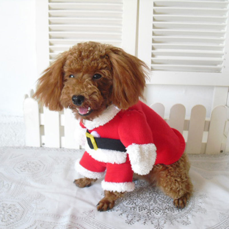 So Cute Pet Dog Christmas Clothes Puppy Cat Coat Apparel Cool #80147(China (Mainland))