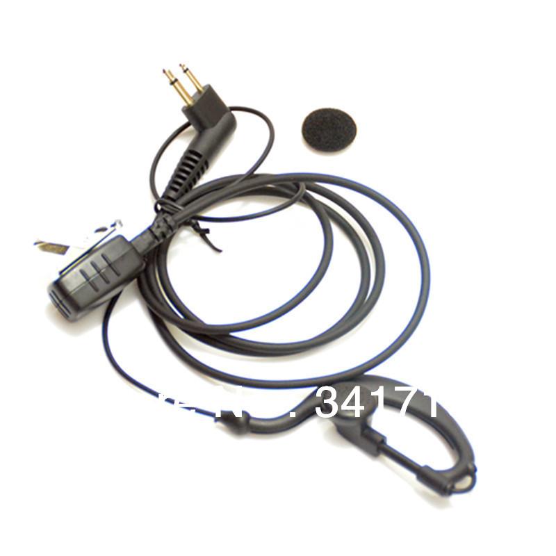 Radio Ear Piece / Headset For MOTOROLA 2-Way Radio Interphone GP68 GP88 GP300 GP308 PR-400 FREE SHIPPING(China (Mainland))
