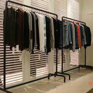 Sell burst iron clothing rack / island shelf / clothing racks / clothing display racks / floor hanger<br><br>Aliexpress