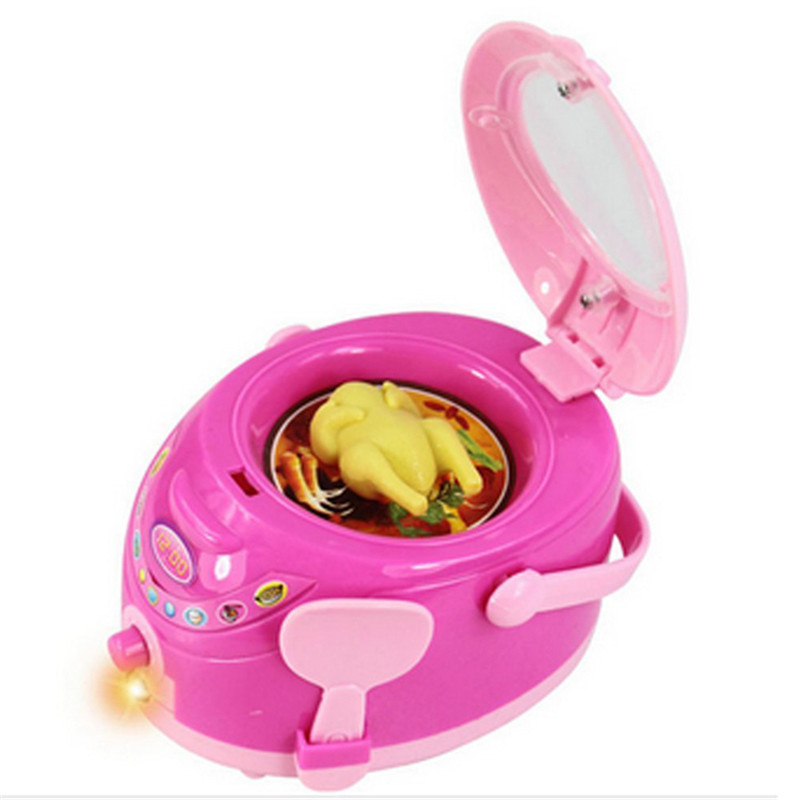 Children Pretend Play Kitchen Toys Electric Cooker to Develop Children's Ability to Interact & Cooperate with Playmates(China (Mainland))
