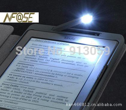 Гаджет  Lighted pu leather cover case for Amazon kindle 4/5 with LED free shipping 1pcs+ Stylus pen as a gift None Компьютер & сеть