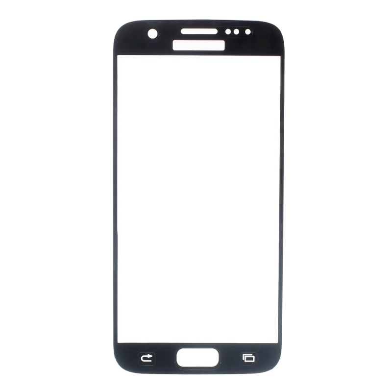 FEMA Tempered Glass Screen Protector for Samsung Galaxy S7 G930 3D Curved Silk Print Full Size – Black