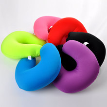 Fashion U Shaped Cushion Pillow Foam Travel Neck Pillow for Car Flight Multicolor 1PC(China (Mainland))