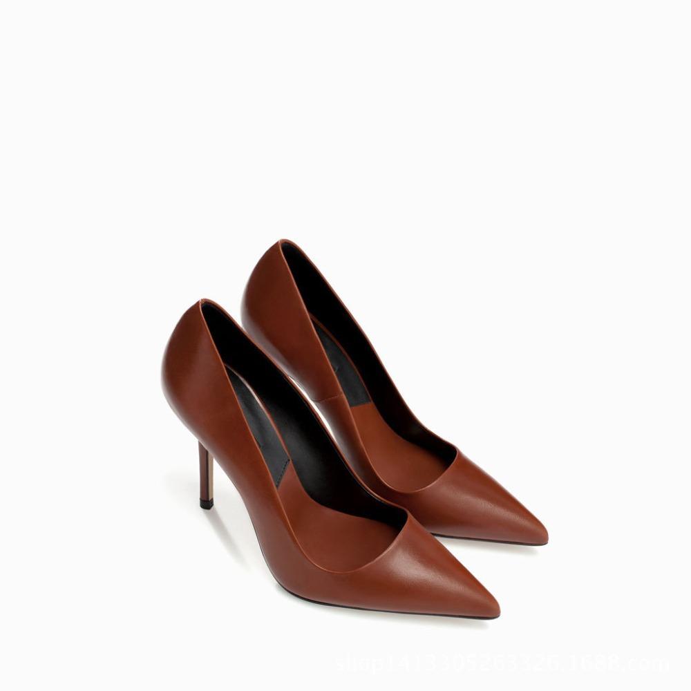 Basic Fashion Woman Pumps Euro sizes sexy thin high heels Stilettos leather party dress shoes wholesales