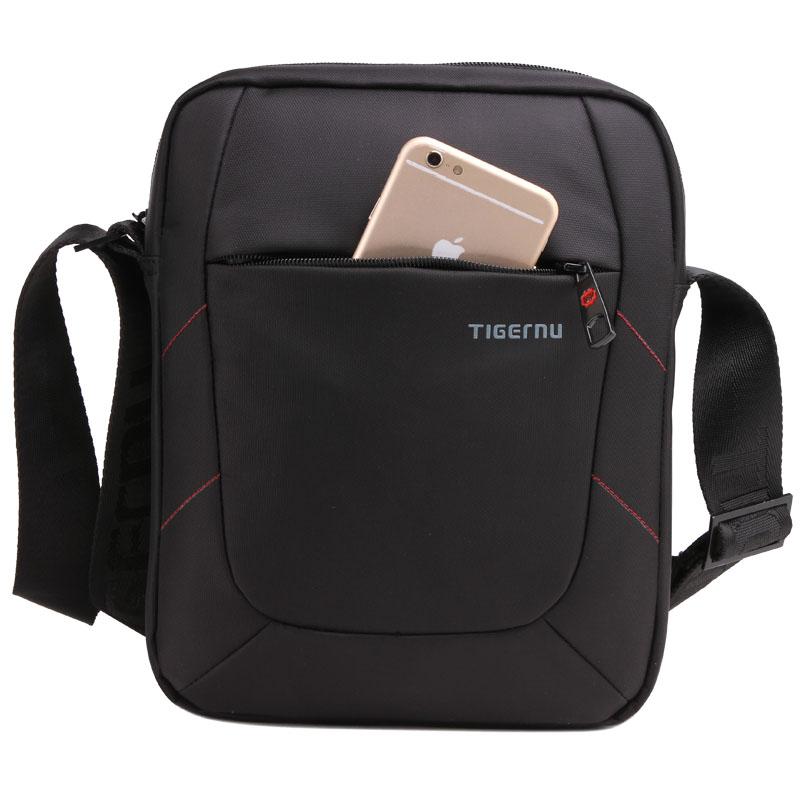 2015 New Shoulder Bag Messenger Bag Men 10 Inch Black Red Nylon Bag Messenger Small Brand Cross body Messenger Bags for Men<br><br>Aliexpress