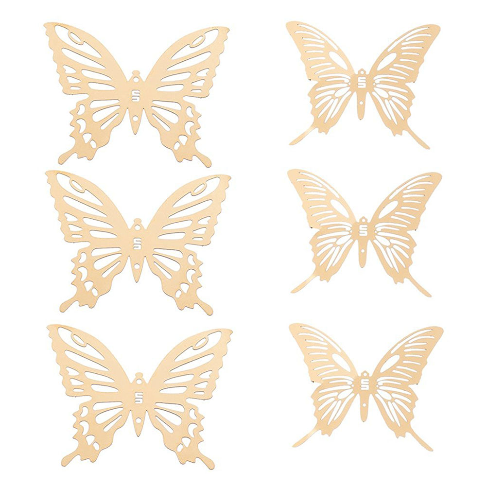 Metal butterfly wall art promotion shop for promotional for Room decor embellishment art 3d