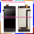 Black White For Fly FS452 Nimbus 2 FS452 Phone LCD Screen Display Digitizer With Touch Screen