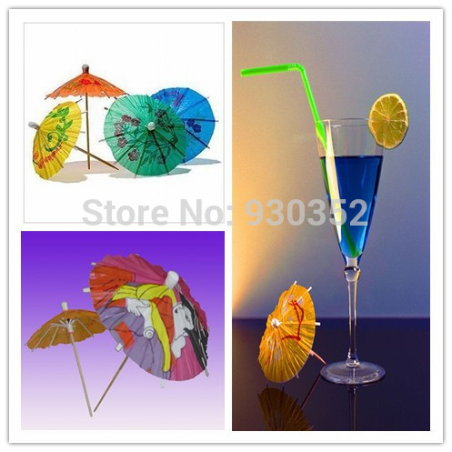 100 pcs/lot Colorful Cocktail umbrella sign Free Shipping E5627(China (Mainland))