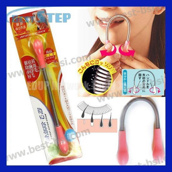 Free Shipping Newest hotselling Facial Threading Epistick Smooth Bend Face Hair Remover Super Stick Epilator Spring Hair Remover