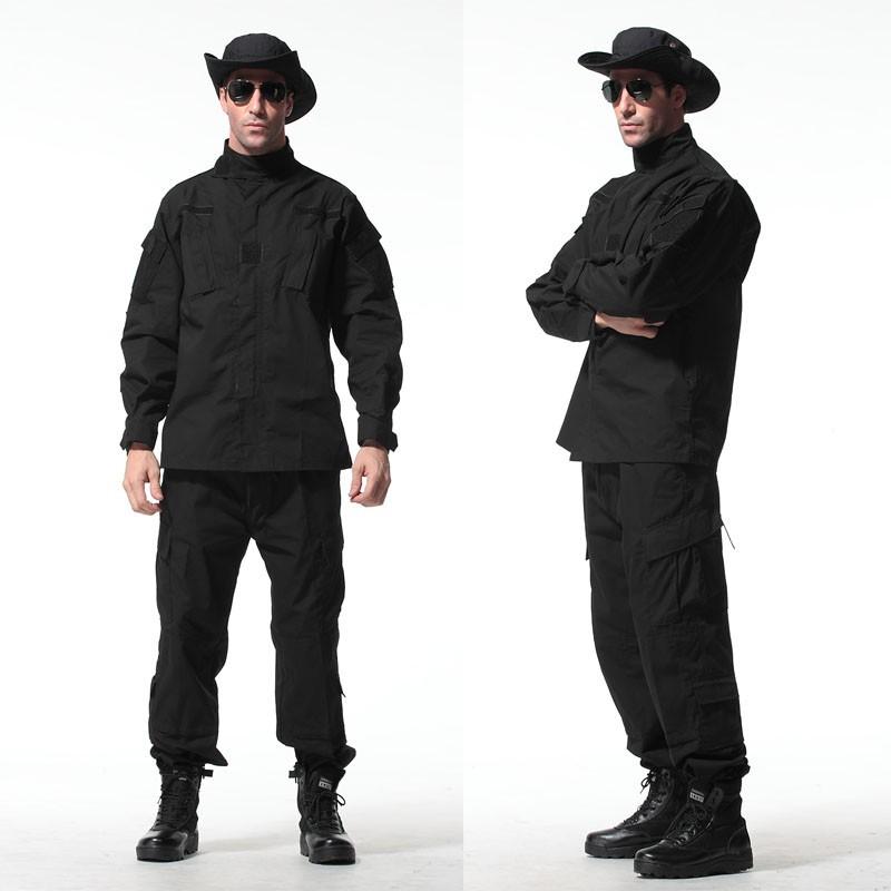 Black-8-Colors-Tactical-Uniform--Jacket-And-Army-Pants-MultiCam-ACU-Woodland-A-TACS-FG-Camouflage