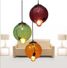 Buy American country A1 glass colorful pendant lights restaurant dining room personality creative art color glass pendant lights ZH for $59.99 in AliExpress store