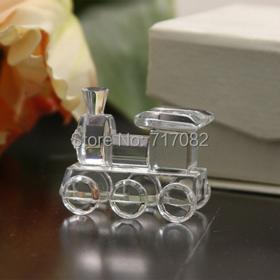 Free Shipping, 100pcs/lot, Cute small Crystal Train Favors for wedding, bridal shower, baby shower and promotional gift(China (Mainland))