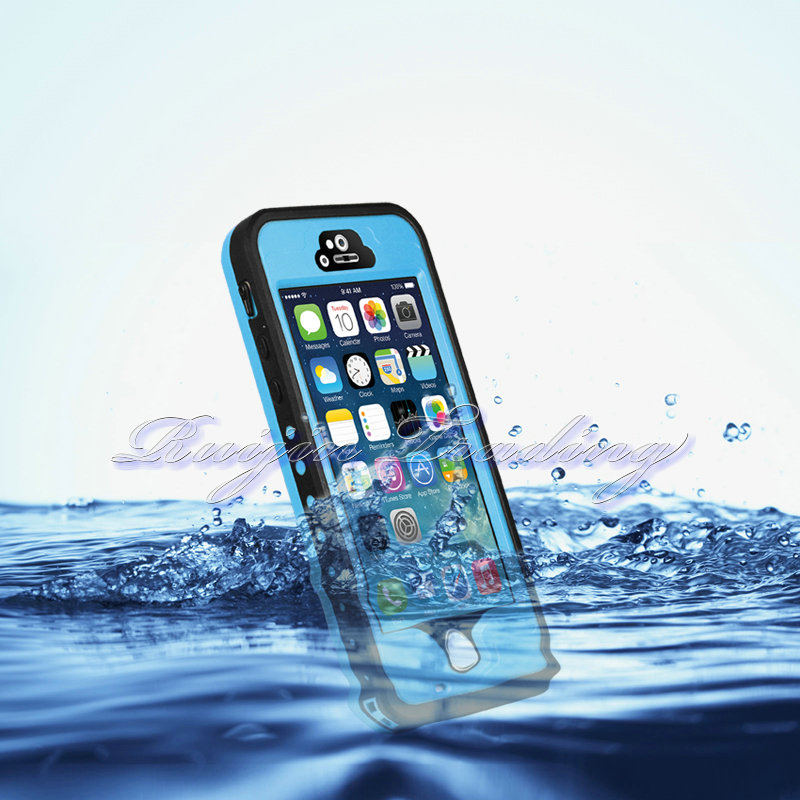 Premium Waterproof Case Fingerprint Touch ID Protect Smart Cell Phone Cases Stand Cover for Apple iPhone 5 5S(China (Mainland))