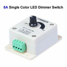 Buy 2pcs DC12V 8A Single Color LED Dimmer Switch Controller SMD 3528 5050 5730 Single Color LED Rigid Strip for $2.20 in AliExpress store
